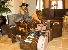 piles of LV luggage