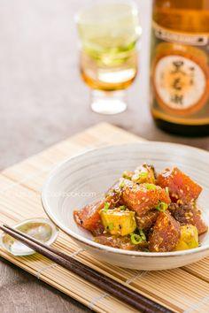 Tuna Poke |  Avocado, Tuna, Soy, Scallion, Lemon, La-Yu and Poke Mix | JustOneCookbook.com