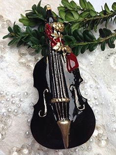 Double Bass Music Instrument Glass Handmade Christmas Ornaments Hangers Decoration Fruit Kitchen GMC http://www.amazon.com/dp/B00P6R5QDS/ref=cm_sw_r_pi_dp_s4twub06TD73M