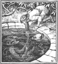 Henry Justice Ford Illustration from The Yellow Fairy Book. Ford, who is perhaps best known for his collaboration with Andrew Lan. Art And Illustration, Book Illustrations, Fantasy Kunst, Fantasy Art, Satanic Art, Arte Obscura, Dark Fantasy, Dark Art, Beautiful Creatures