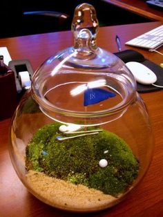 Golf Course Terrarium, a cute desk accent for golfers! More of diy golf crafts at #lorisgolfshoppe