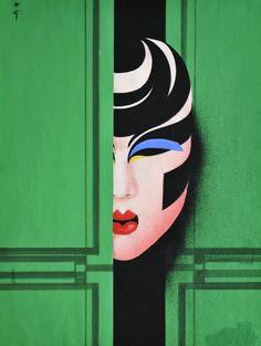 RENE GRUAU (1909-2004) - JAPONISME, série masques
