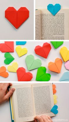 marcapaginas-libro-corazon-origami-bookmark-heart