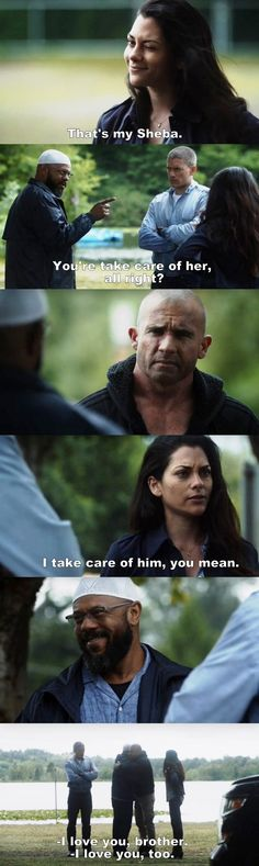 """That's my Sheba"" - C-Note, Lincoln, Michael and Sheba #PrisonBreak"