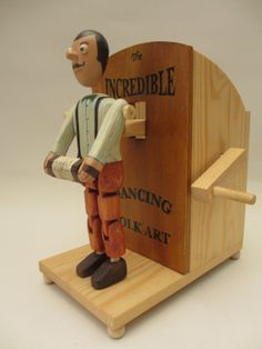 Jig Dancing Folk Art Automata