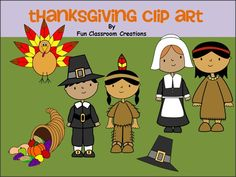 This cute Thanksgiving clip art set can be used to make wonderful worksheets for personal use or for sale.   Available FREE on Madebyteachers.com.