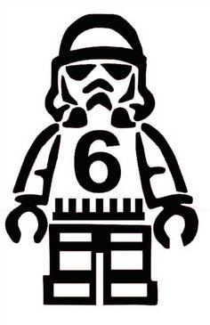 lego stormtrooper birthday shirt pattern
