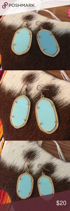 Kendra Scott look alike Light blue with gold Kendra Scott look alike Kendra Scott Jewelry Earrings