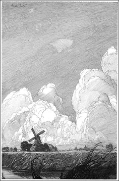 By Franklin Booth  pen and ink drawing