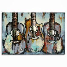 Peinture guitare cadeau pour un musicien musique par MagdaMagier