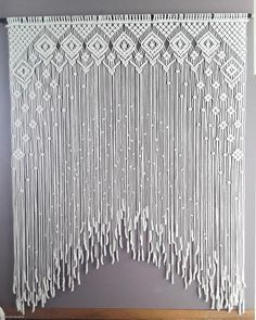 Macrame Wall Hanging Patterns, Macrame Art, Macrame Design, Macrame Projects, Macrame Patterns, Macrame Curtain, Creations, Curtains, Etsy