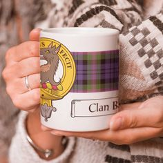 Ceramic coffee mug with clan crest - only from ScotClans