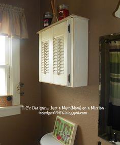 DIY Bathroom Decor: Drawer Repurposed To Bathroom Wall Cabinet {Tutorial}