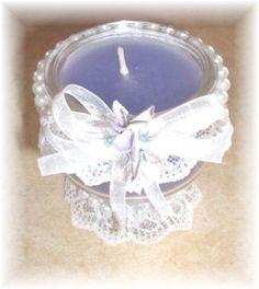 Lace/Ribbon Candle