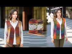 Alize Burcum Batik ile Dikey Patchwork Yelek • Patchwork Vest • Жилет Пэчворк - YouTube Knitting Stiches, Baby Knitting Patterns, Hand Knitting, Knitted Baby Clothes, Knit Crochet, Blazer, Celebrities, Youtube, Sweaters
