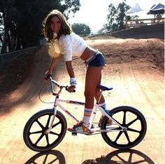 Yeah, the 1980's BMX scene. If you weren't there,... there was nothing like it. Bikes were colorful and cool and guys were just guys having fun. Chicks were also,... colorful and cool and weren't afraid to just be chicks! Good times.