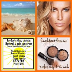 Who's ready for summer? (Me!) sport a sun kissed glow without the sun damage with Beachfront Bronzer! Comes in 3 shades that are half matte, half shimmer. ☀️www.youniquebystefani.com #younique #makeup #skincare #beauty #glow #bronzer #summer #sunshine #youniquebystefani