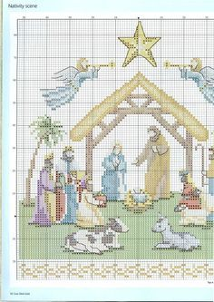 Cross Stitch Gold 87 - Nativity of Xmas Cross Stitch, Cross Stitch Needles, Counted Cross Stitch Patterns, Cross Stitch Charts, Cross Stitching, Cross Stitch Embroidery, Cross Stitch Pictures, Christmas Embroidery, Christmas Cross