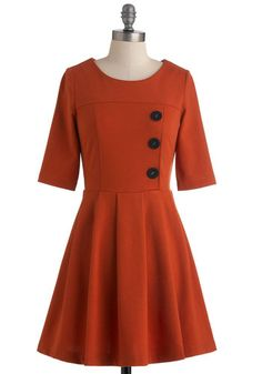 Either Orange Dress, #ModCloth