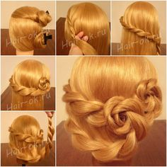 How to DIY Pretty Double Braid Rose Hairstyle tutorial and instruction. Follow us: www.facebook.com/fabartdiy