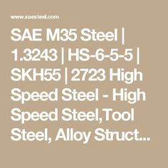 Steel Similar to but with an added cobalt to increase hot hardness. High Speed Steel, Tool Steel