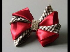 Lindo laço de fitas,dupla cores Passo a Passo -satin ribbon bow - YouTube