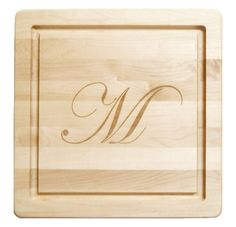 Personalized Maple 12 inch Square Cutting Board, Create a Beautiful & Unique Personalized Custom Monogrammed Wood Cutting Boards & Wood Carving Boards Carving Board, Wood Carving, Butcher Block Conditioner, Personalized Cutting Board, Wood Cutting Boards, Thanksgiving Ideas, Consumer Products, Utensils, Christmas