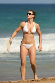 Jessica Biel, she tends to be in movies I don't wanna see. She up there with Roselyn Sanchez in the perfect body department. Also has Native American in her.