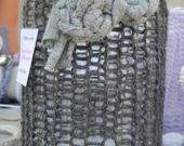 lanterna in vetro riciclato di lana grigia con fiore applicato in cotone : Lampade di love-affairs