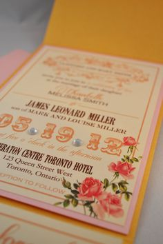 Printable PDF Vintage Wedding Invitations for by WeddingsNThingss, $35.00