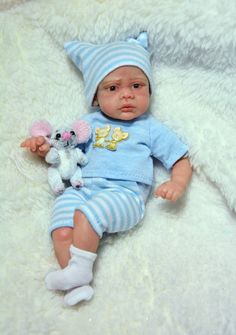 Tim - Collectible OOAK Doll Sculpt Polymer Clay 6,5 in