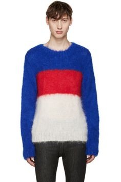 ganryu - Tricolor Mohair Sweater