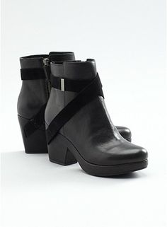 Just added this bootie to my ever growing boot wardrobe....fun to wear with my skinny jeans and harem pants.