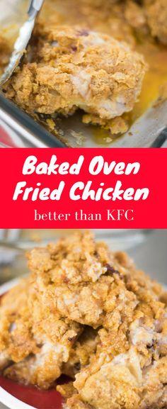 Oven Fried Chicken / Oven Baked Chicken / Crispy Oven Baked Chicken / Crispy Fried Chicken / Easy Fried Chicken / KFC Fried Chicken / KFC Chicken / Copycat KFC / Baked Chicken / Breaded Chicken / Chicken Breading