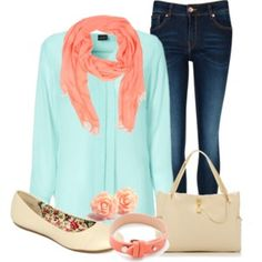 63. Coral & Mint