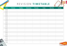 Revision Timetable PowerPoint Template