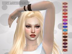 Dusk Matte Lipstick by hutzu at TSR • Sims 4 Updates