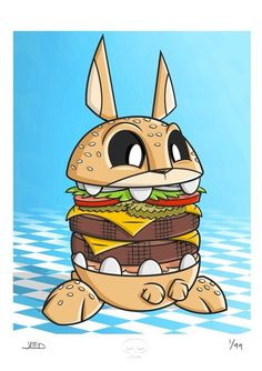 """Burger Bunny"" Art Print by Joe Ledbetter"