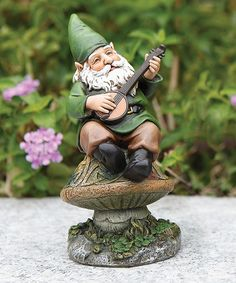 Look what I found on #zulily! Banjo-Playing Gnome Figurine #zulilyfinds