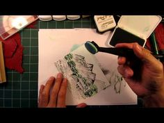Stampscapes 101: Video 23A.  The Covered Bridge. Part 1 of 3.