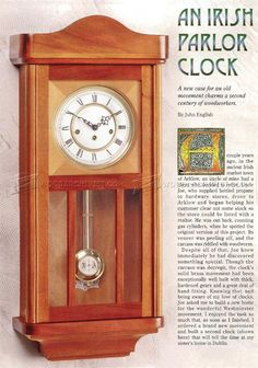 Wall Clock Plans - Woodworking Plans