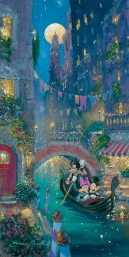 """Venetian Romance"" by James Coleman - Limited Edition of 195 on Canvas, 24x12."
