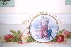 Vintage Antique Old World Santa Flue Cover/ Wall Hanger Shabby Cottage~French Chic~Prairie~Farmhouse Style by thebedpost02 on Etsy