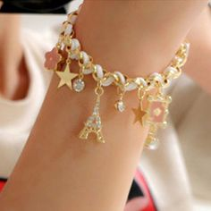 """ON SALE NOW !!! A Exquisitely Detailed Charm Bracelet + Bonus Gift When """"BUYNOW"""".  Starting at $15 AND ITS #FREESHIPPING .  GO VISIT MY STORE FOR MY NEW ITEMS NOW ON  #SALE !!! AT  WWW.TOPHATTER.COM/USERS/1251025-MAKEUP_BY_YESENIAA CHEAP #JEWELRY, #MAKEUP, #LINGERIE #PHONECASES"""