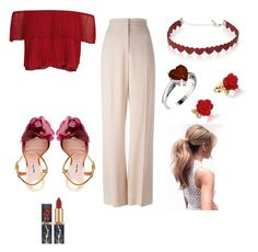"""""""RED outfit"""" by thecuteoutffit on Polyvore featuring STELLA McCARTNEY, Keepsake the Label, Miu Miu, Simons and Disney"""