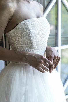 Wedding dress Noir Crystal by Olivia Bottega. Ball wedding | Etsy Mod Wedding, Tulle Wedding, Wedding Day, Wedding Dresses, Crepe Dress, Chiffon Dress, Lace Dress, Minimalist Dresses, Top Pattern