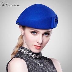 Women Beret hat Ladies Elegant Cloche 100% Australia merino wool Beret Hat  with Airline Stewardess Hat Tag a friend who would love this! 911cc530b3a7