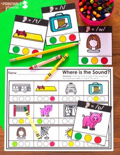 Strengthen phonemic awareness skills by having students practice isolating the sounds in a word. Perfect for Kindergarten, this sound isolation kit includes 6 centers and 10 no prep pages. You can use these phonemic awareness activities in teacher-led small group activities, Kindergarten literacy centers, or use the no prep pages for homework or sub tubs!