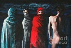 Hermanas II Anhelo      woman paintings, women paintings, portrait paintings, female paintings, emotion paintings, woman canvas prints, women canvas prints, portrait canvas prints, female canvas prints, emotion canvas prints sensual sexy art iran iraq muslim