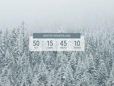 Daily UI 014 :: Countdown Timer :: Winter Wonderland